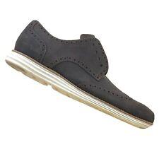 COLE HAAN Mens Lunar Grand Brown White Suede Wingtip Shoes Size 10.5 NO LACES
