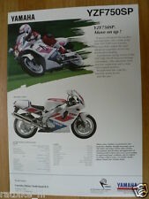 Y050-YAMAHA BROCHURE YZF750R AND YZF750SP ENGLISH 2 PAGES