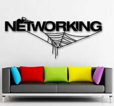 Wall Stickers Vinyl Decal Networking Internet Spider Web Technology IT (ig1443)