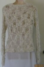 Lily Loves Size 14 Cream Coloured Patterned Jumper