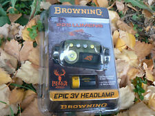 NUOVO Browning BR8670 torcia lampada frontale Speed Epic LED 3V head 225 lumens