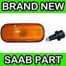 Saab 9000, 900, 9-3, 9-5 Yellow / Orange Wing Indicator Light / Lens / Lamp