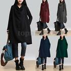 Zanzea Women Loose A-line Shirt Tunic Cotton Long Sleeve Dress Pullover Blouse