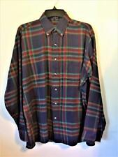 WINTERWIEGHTS BY VAN HEUSEN PLAID LONG SLEEVE SHIRT Sz L TAILORED IN EGYPT