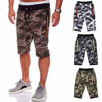 Men's Gym Shorts Camouflage Sports Training Jogging Running Short Pants Trousers