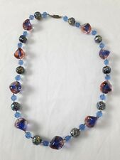 BIJOU 33 Collier en perles verre VINTAGE 60/70 glass beads NECKLACE JEWEL