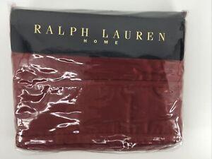 Ralph Lauren Home Damask Red Flat King Sheet NIP
