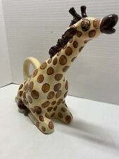 Giraffe Pitcher by Blue Sky Clayworks Hand Painted Signed 2009