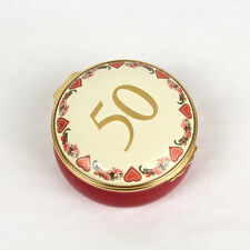 Vintage Halycon Days Enamel 50th Anniversary Box for Leo & Ed - Gay Interest Vr