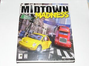 Midtown Madness PC Game Brand New Sealed 1999 Big Box Rare