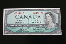 Canada $1 Bill 1954 CUNC Shortened Misaligned