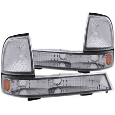 ANZO 511003 PARKING/SIGNAL LIGHTS EURO CHROME AMBER FOR FORD RANGER 98-00