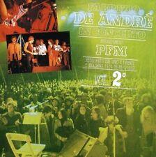 Fabrizio De Andre' In Concerto Firenze/Bologna 1979 PFM Vol. 2 Remastered CD