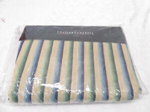 COLLIER CAMPBELL BEDSKIRTS GREEN BLUE STRIPE MINT Bed Skirt Ruffle