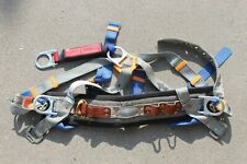 Vtg 1994 Gravity Lineman Climbing Safety Harness Nylon Leather Sz M 36 44 30720
