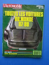 """L'Automobile """" TOUTES LES VOITURES DU MONDE """"  1987-1988 Hors-Série  N° 10"""