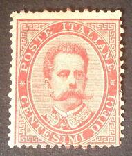 Timbre Italie, n°34, 10c rouge, nsg, B, cote 375e.