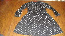 BOUTIQUE NO SUGAR ADDED 7-8 BLACK PINK POLKA DOT DRESS NO FADE