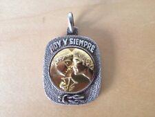 New Gold and silver pendant - Colgante de oro y plata - Del AMOR cuadrada square