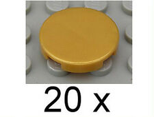 LEGO - 20 x Rundkachel Rundfliese goldfarbene ( pearl gold ) 2x2 / 4150 NEUWARE