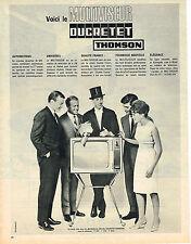 PUBLICITE ADVERTISING  1963   DUCRETET-THOMSON   téléviseur