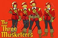 THREE MUSKETEERS FRIDGE MAGNET - RETRO TV CLASSIC!  from the Banana Splits show!
