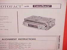 1962 TRIUMPH TR3B TR4 ROADSTER AM RADIO SERVICE SHOP REPAIR MANUAL BROCHURE 62
