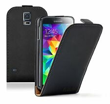 Ultra Slim BLACK Leather Flip Case Cover Pouch for Samsung Galaxy S5 / SM-G900F