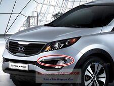 For2011 ~ KIA SPORTAGE Bumper Chrome Fog Lamp Garnish Cover Genuine Parts OEM