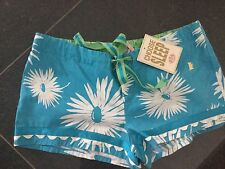 NWT Juicy Couture New & Genuine Blue Cotton Shorts Size Small UK 8/10 With Logo