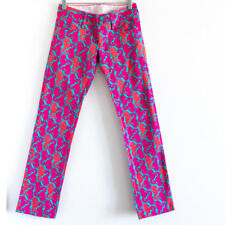 Lilly Pulitzer Hold Your Horses Sea horse Jeans Size 00 straight pink blue XS