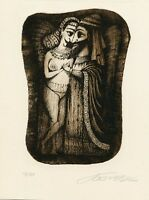 """The Song of Song"" Limited Edition Ex libris Etching, Alexei Bobrusov, Russia"