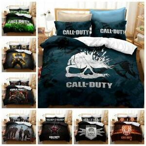 Call of Duty COD Game Quilt Duvet Cover 2Pcs Bedding Set Single Double King Size