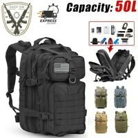 Large Capacity 50L Backpack Men Army Military Tactical 3P Softback Outdoor Bags