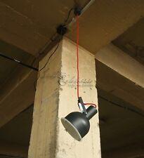 Industrie Hängeleuchte Pendelleuchte Loft graphit grau rot Spot Hängelampe Lampe