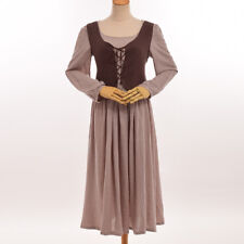 Medieval Dress Vest Prairie Pastoral Farm Maid Pirate Serving Wench Corset