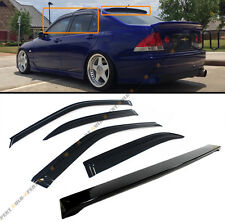 FOR 2001-05 LEXUS IS300 GLOSSY BLACK REAR ROOF SPOILER WING+ WINDOW VISOR COMBO