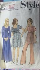 VTG 70s Styles Pattern Maternity Dress Or Tunic & Trousers Size 14 Bust 36