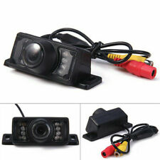 HD Reverse Parking Camera IR Night Vision Rear View Small Plate 7 LEDS For Car