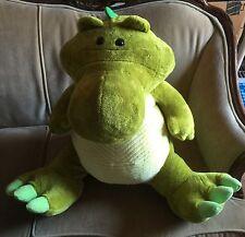 "Green Dragon Jumbo Plush Stuffed Animal By Goffa international 24"" Large"