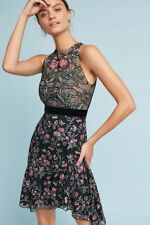 New Anthropologie ML Monique Lhuillier Embroidered Lace Dress size 8 NWT