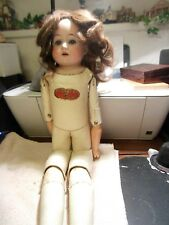 "19"" German antique doll mark H"
