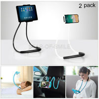 Universal Lazy Neck Phone Holder Tablet Stand Bracket Rotating Mount Hands-Free