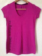 Bedroom Athletics Size Small Fuschia V Neck Short Sleeve Pyjama Top <BC953