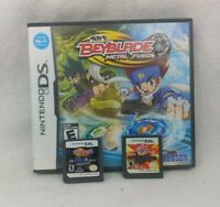 Lot Of 3 Nintendo DS Bakugan, Beyblade Metal Fusion, And Kung Zhu Games!