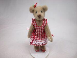 "World of Miniature Bears 3.25"" Plush Bear Debbie #5050 Closing"