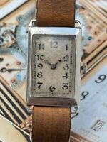 RWC Cased Deco Period Rolex Unicorn Dress Watch Stunning Sunburst Dial Working