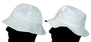 INTERNATIONAL HEADWEAR Bush Hat Cotton Bowls Bucket Style Mens Summer White  S-L
