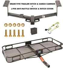 TRAILER HITCH + CARGO BASKET CARRIER + SILENT PIN LOCK FITS 2006-17 TOYOTA RAV4
