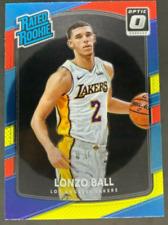 2017-18 Panini Donruss Optic Red/Yellow Rated Rookie #199 Lonzo Ball
